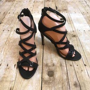 Dolce Vita Strappy  Black Heels Sandals Size 8